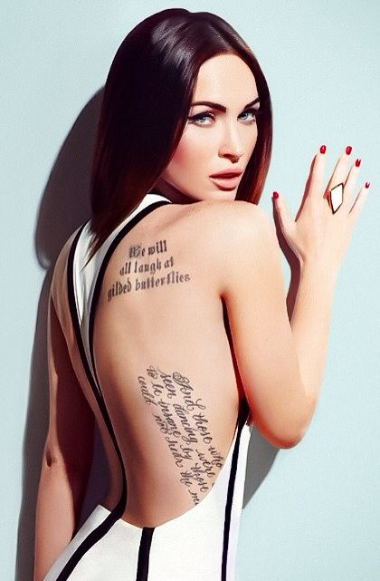 Megan Fox Celebrity Tattoos Megan Fox Tattoo Megan Fox