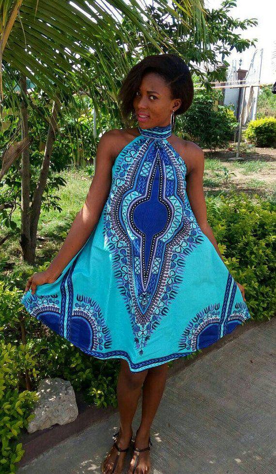 Dashiki dress, ankara dress, African print dress, Summer dress ...
