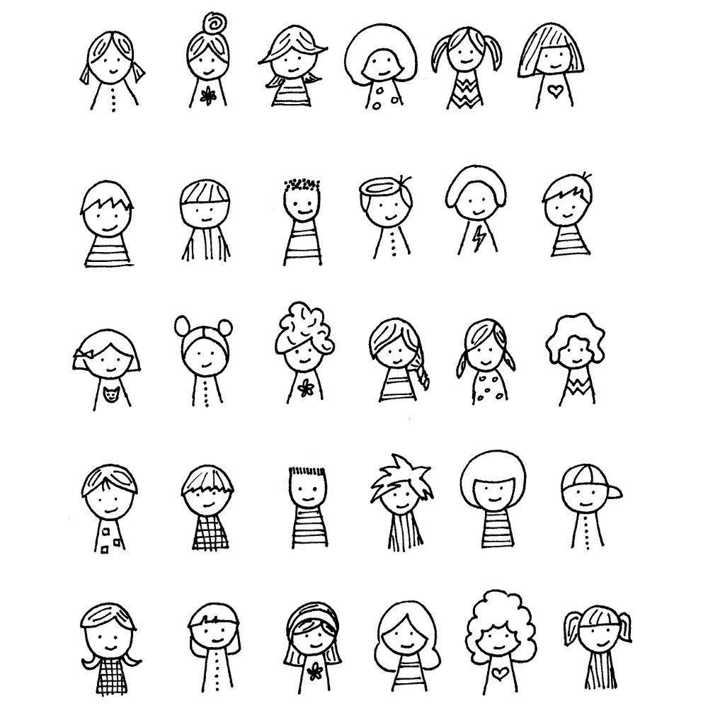 Как нарисовать смешных человечков в картинках, крестнице днем