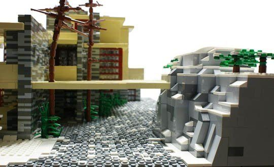 frank lloyd wright s falling water in legos pinterest falling