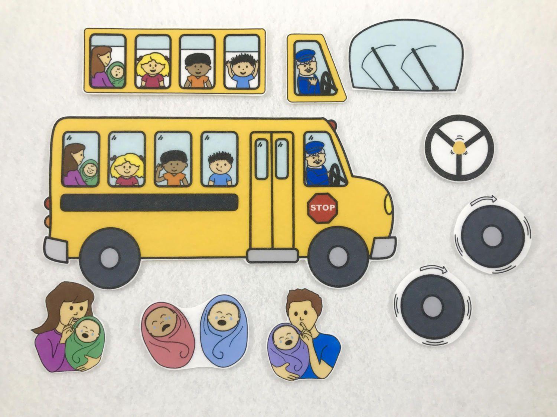 Wheels On The Bus Felt Story