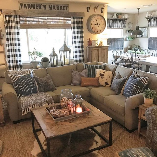 Country Farmhouse Living Room: I Put Out Some New Pillows...I'm In LOVE!! ️ • • •