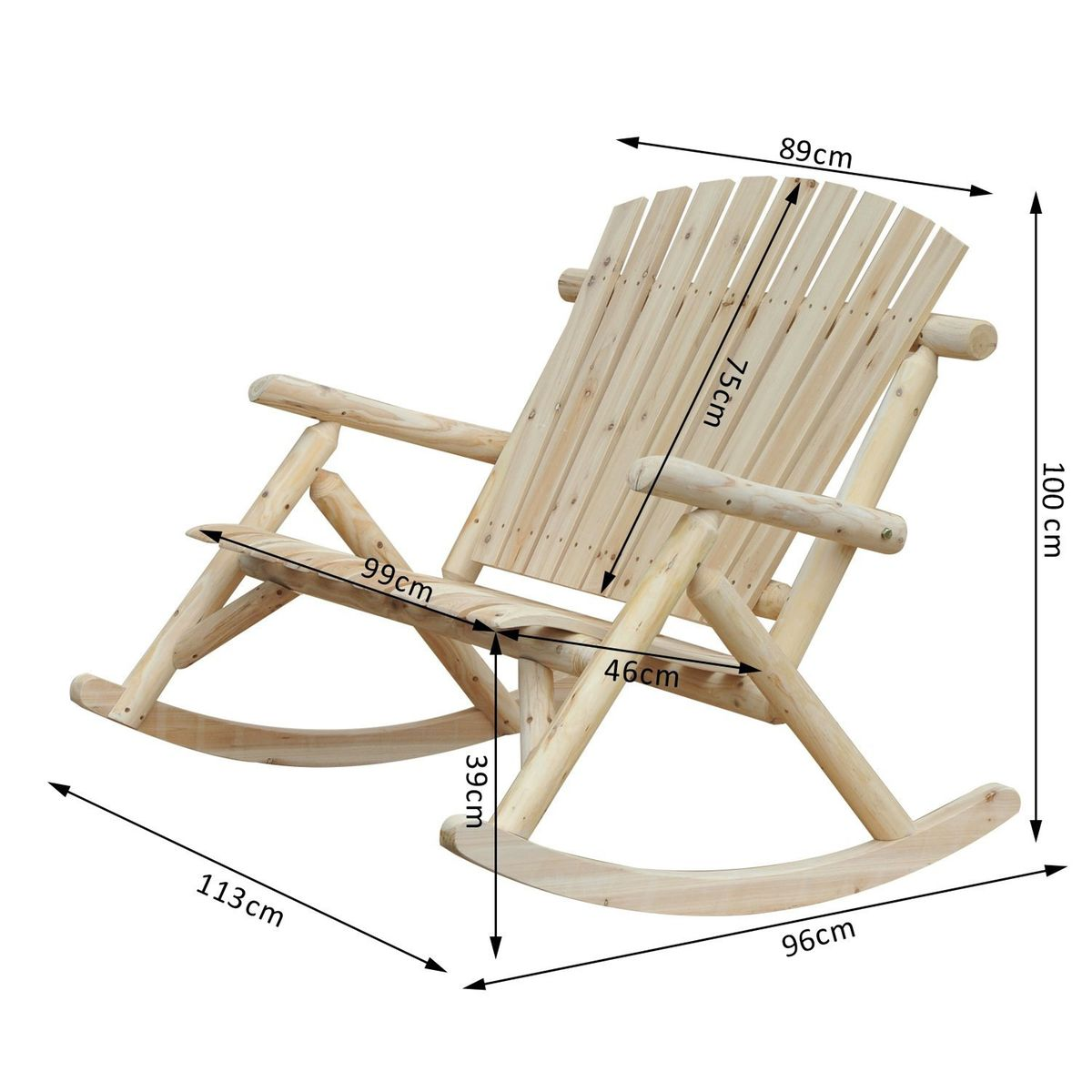 Pin On Chairs Old - Rocking Chair De Jardin
