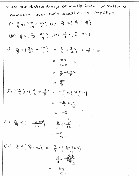 Rational Numbers Rd Sharma Class 8 Solutions Exercise 1 6 Rational Numbers Class 8 Solutions