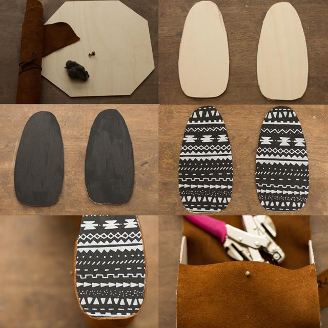 Always Rooney: Wood & Leather Clutch | DIY