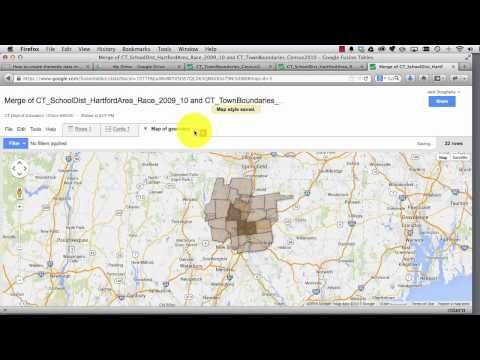 How to create thematic polygon data maps with Google Fusion Tables