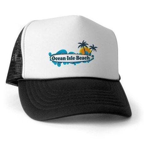 8023ff355 Ocean Isle Beach NC - Surf Design Trucker Hat | Ocean Isle NC ...