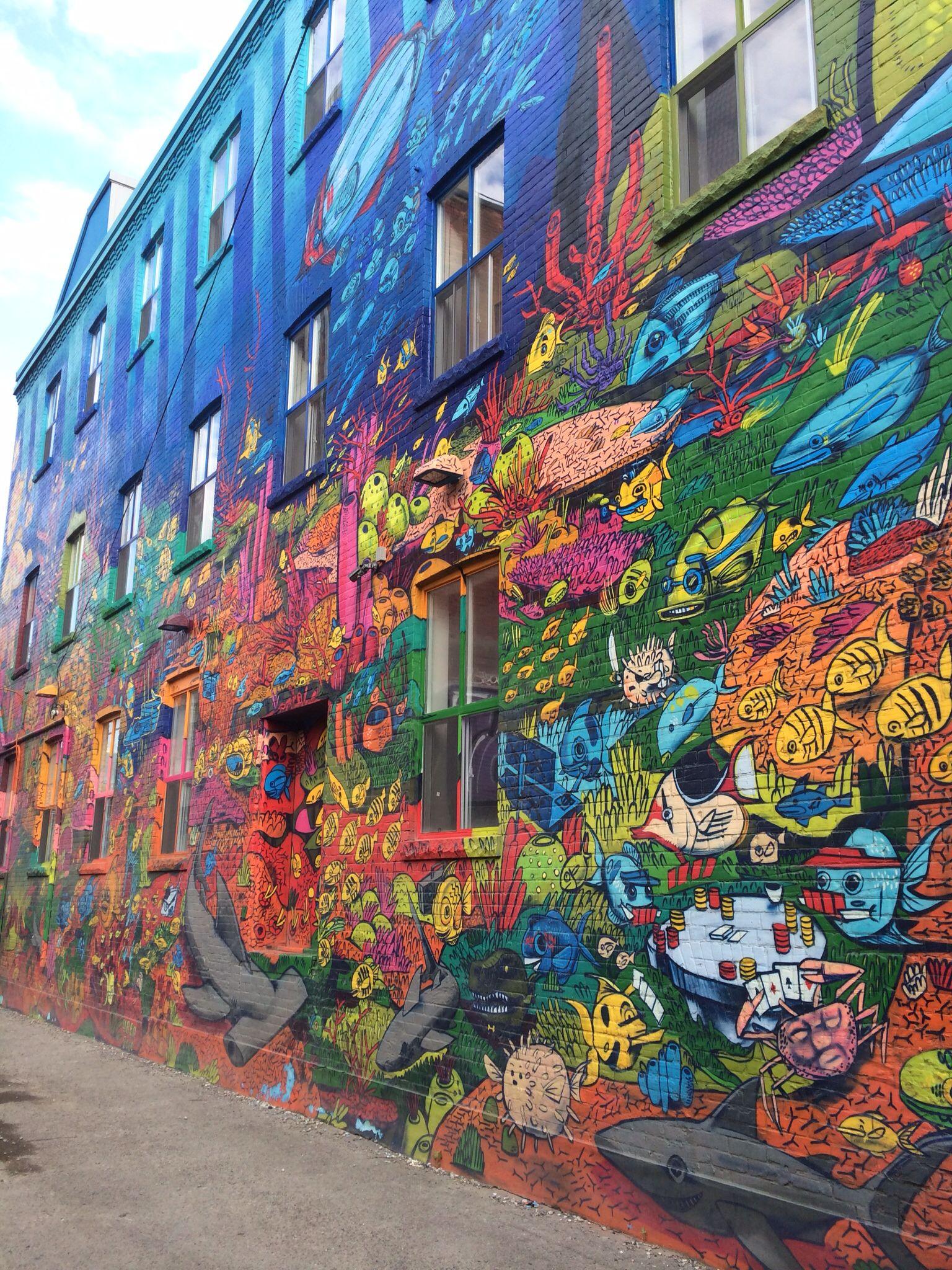 Graffiti alley toronto canada street art street art
