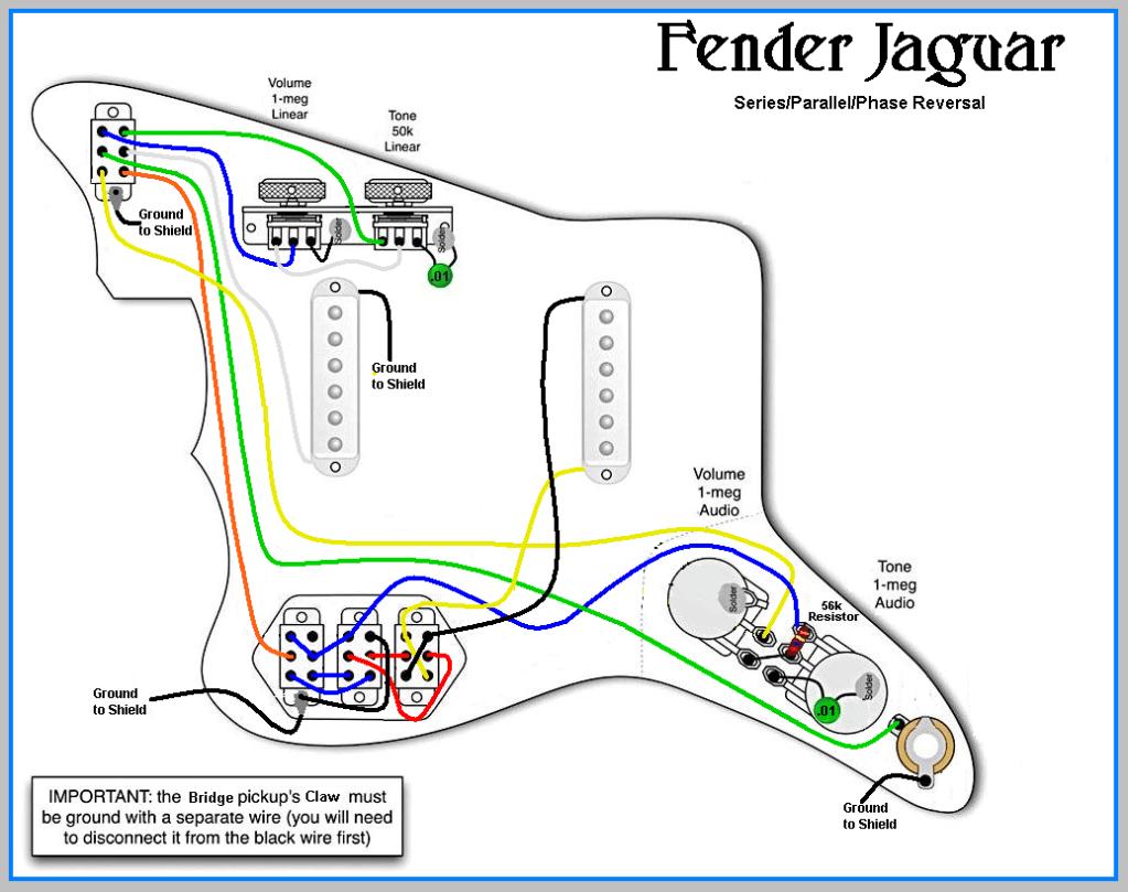 Fender Jaguar Hh Wiring Diagram Fender Jaguar Parallel Wiring Jaguar