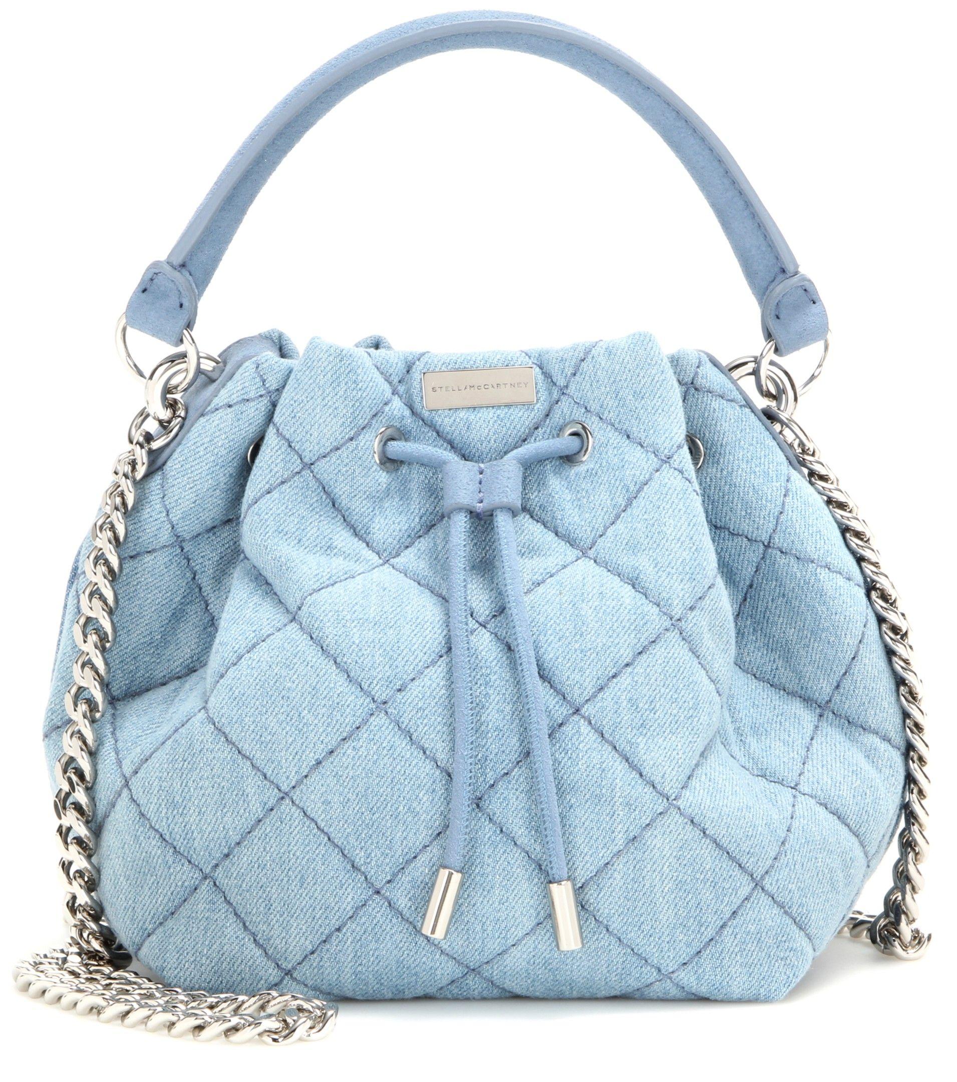 mytheresa.com - Soft Beckett Bucket Quilted Denim Bucket Bag ◊ Stella McCartney ☆ mytheresa - Luxury Fashion for Women / Designer clothing, shoes, bags