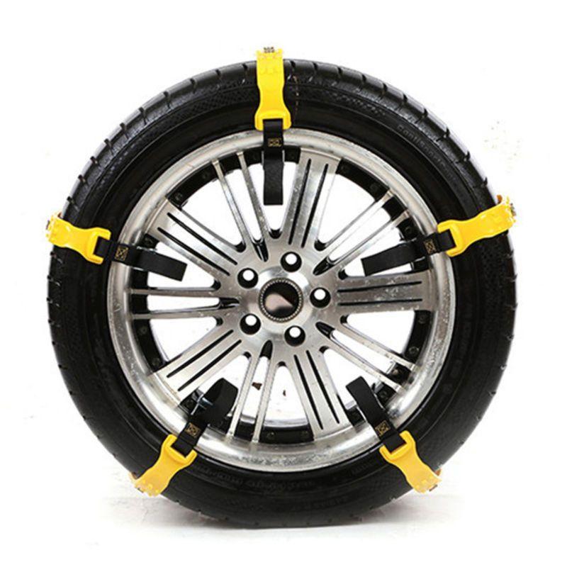 10pcs Car Snow Tyre Chains Belt Beef Tendon Antiskid TPU