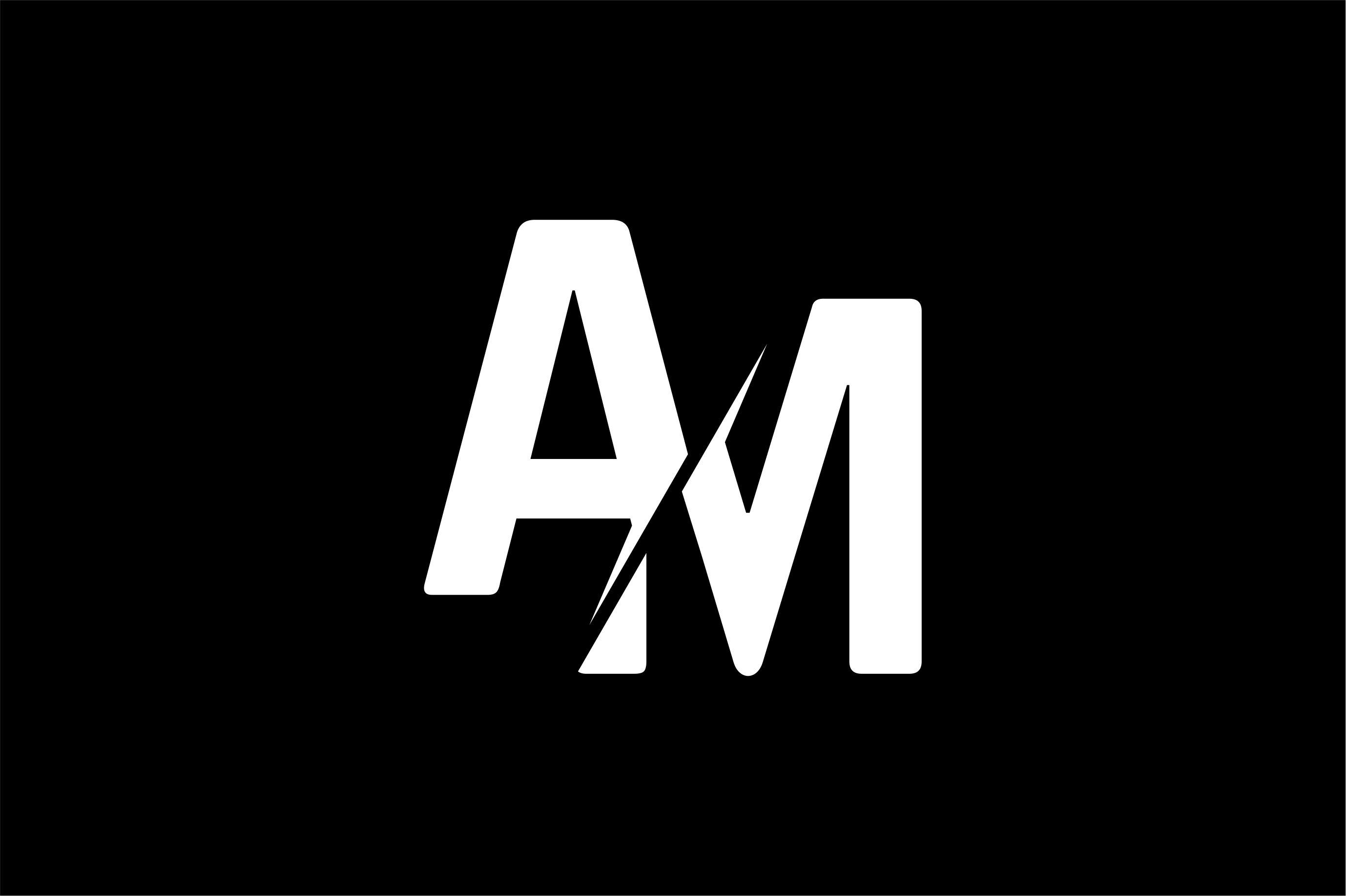 Monogram Am Logo Design Monogram Logo Edm Logo Logos Design