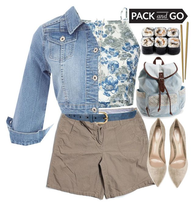 """Pack and Go:Tokyo"" by grozdana-v ❤ liked on Polyvore featuring Aéropostale, Tommy Hilfiger, Pilot, Gianvito Rossi, Mepra, Vita Fede, tokyo and Packandgo"