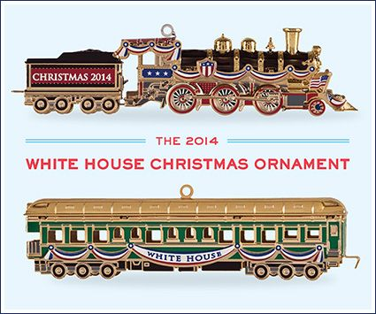 The 2014 White House Christmas Ornament with the history of older ornaments  from this page. Z - Our 2015 Ornament Design Inspiration Pinterest White House