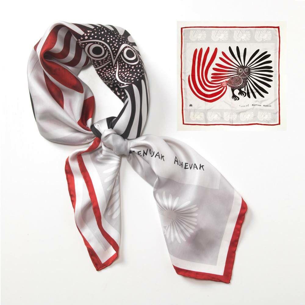 kenojuak ashevak enchanted owl silk scarf canada house