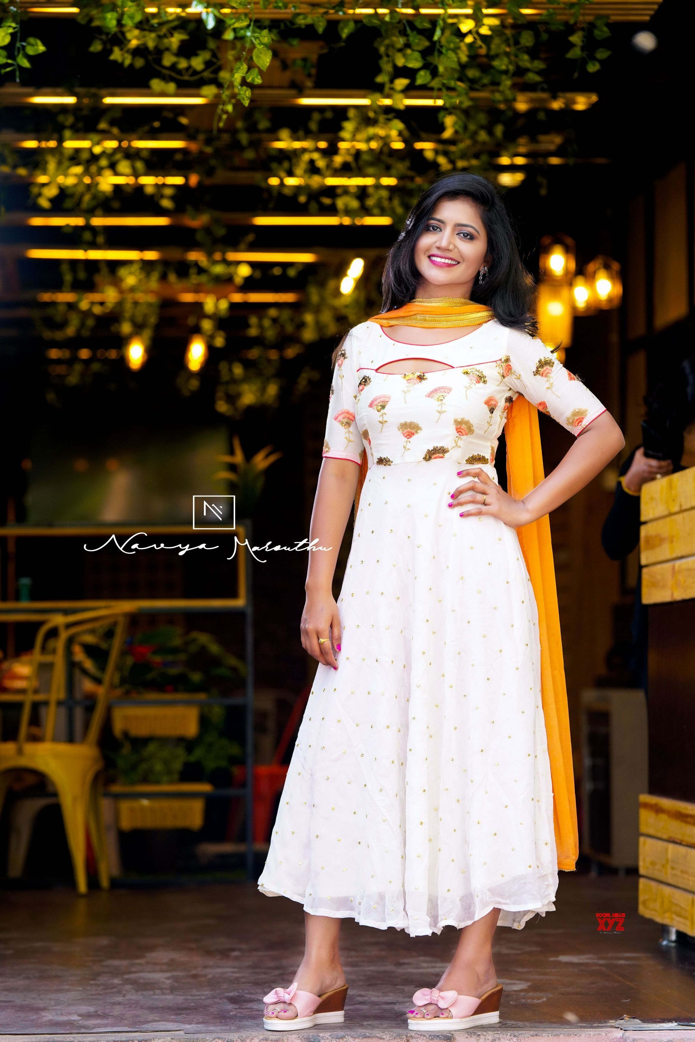 Bigg Boss 3 Telugu Fame Shiva Jyothi Savithri Hd Stills From A New Photoshoot Social News Xyz White Dress Designer Dresses Indian Dresses