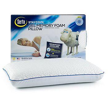 Serta Stay Cool Gel Memory Foam Pillow Memory Foam Pillow Foam