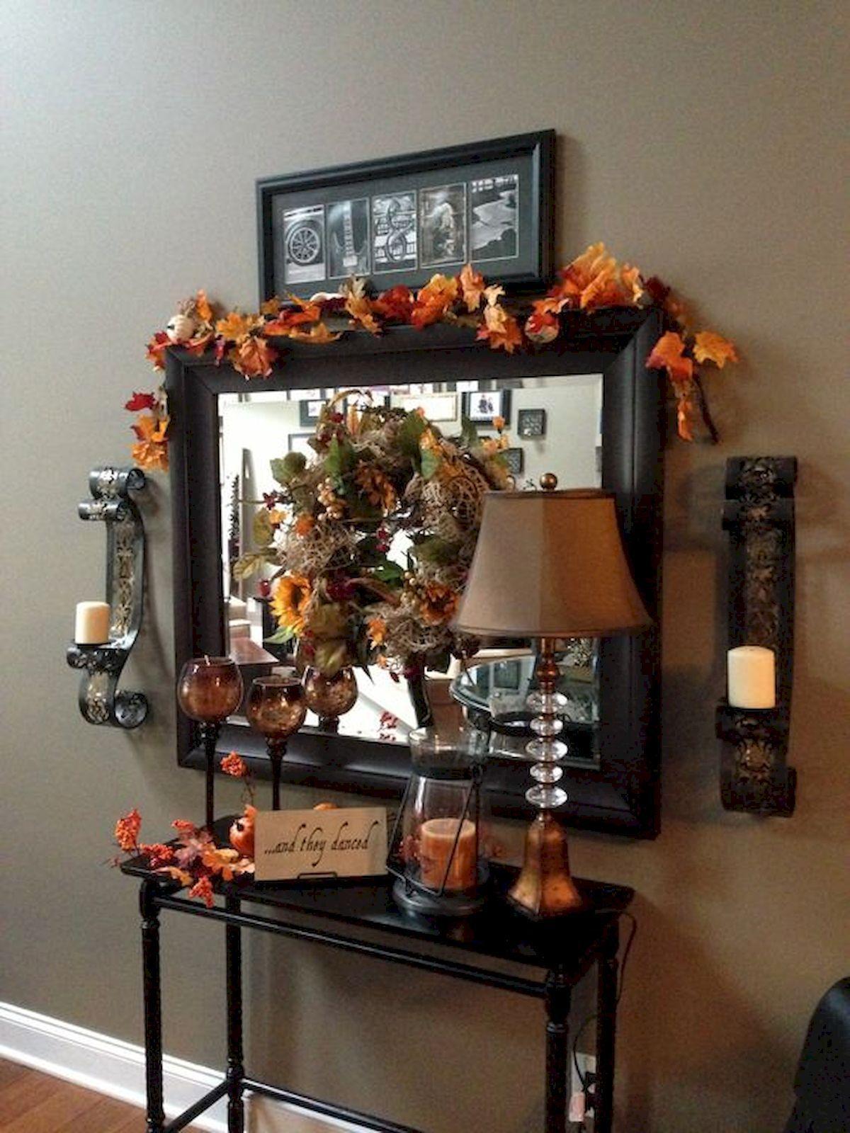 40 elegant fall mantle decor ideas (36 Halloween Pinterest