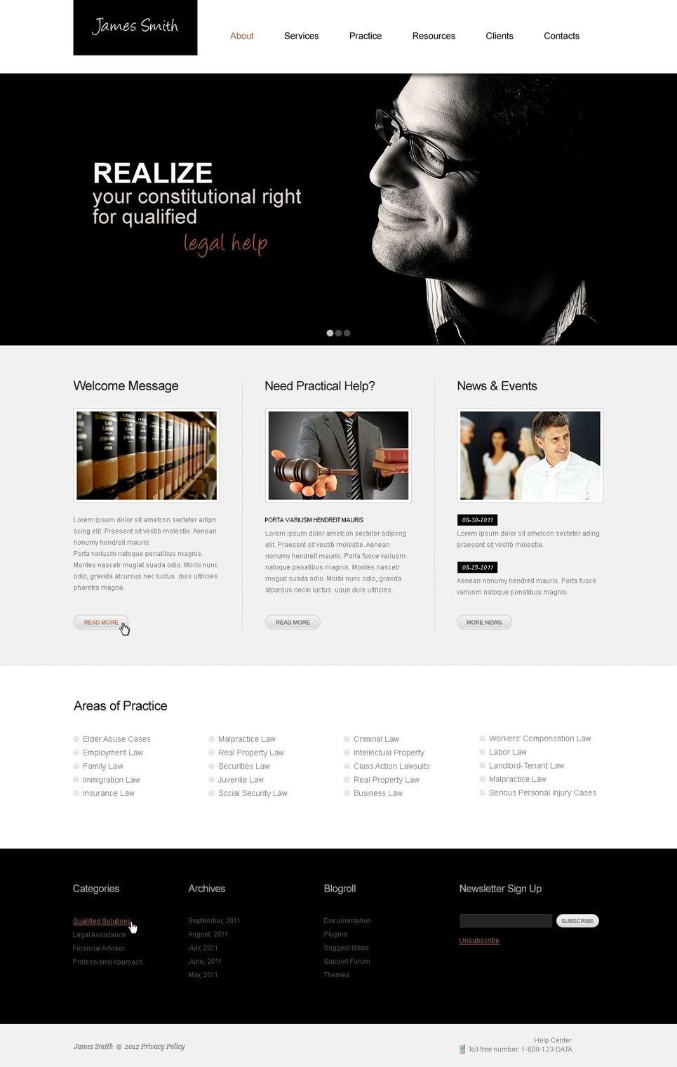 Lawyer Website Template 40125 Website Template Lawyer Website