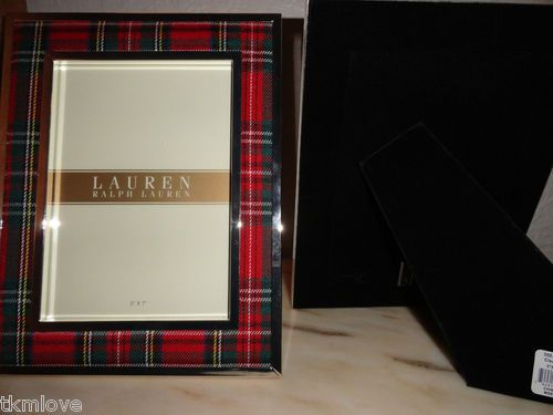 New Rare Polo Ralph Lauren Red Green Clearly Tartan Plaid