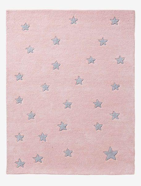 Kinderteppich sterne grau  Kinderteppich mit Sternen GRAU/STERNE+ROSA/STERNE // Vertbaudet ...