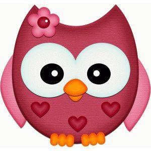 Silhouette Design Store: valentine owl w flower pnc | Owl ...