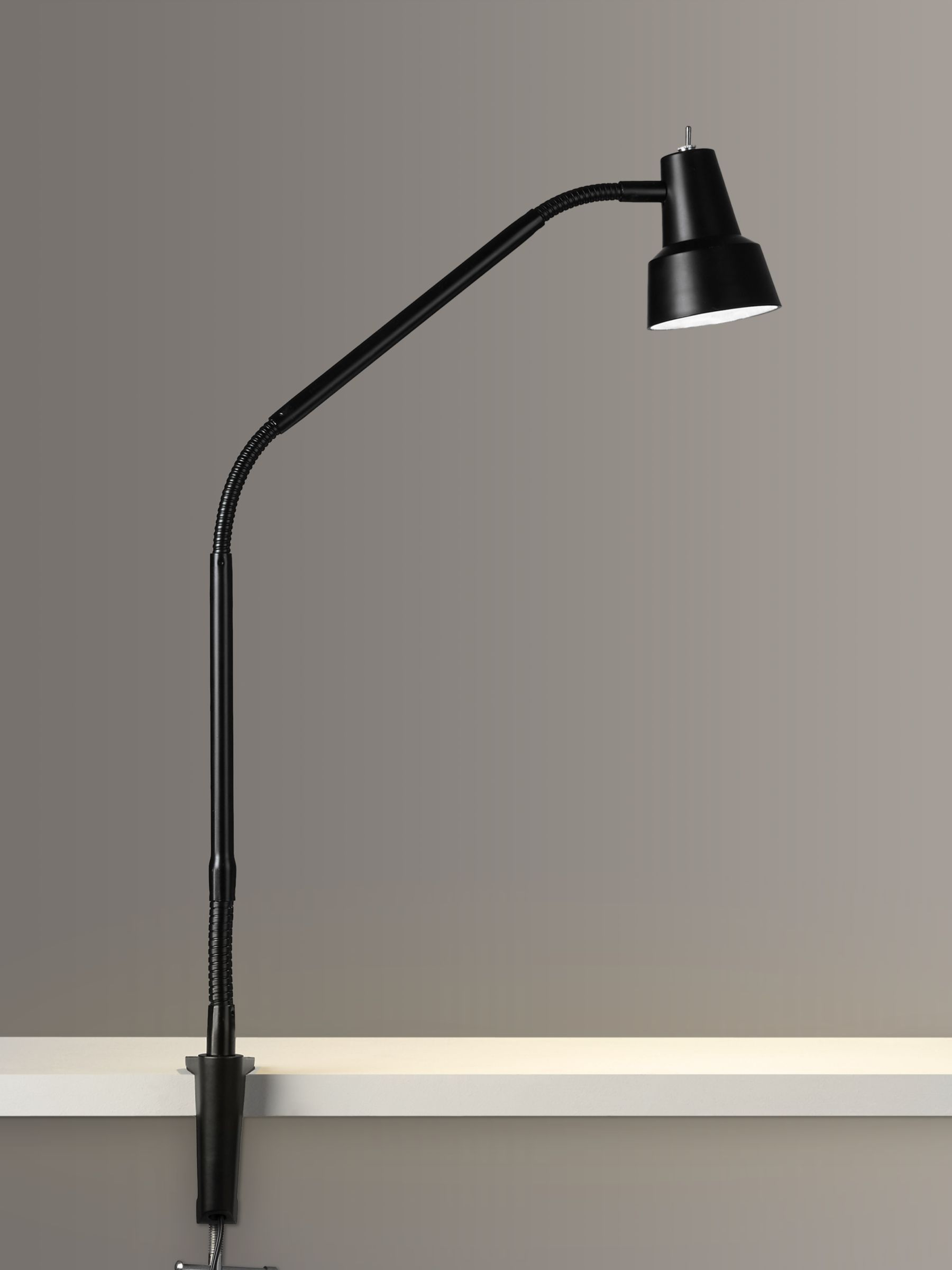 John Lewis Partners Zadie Led Clip On Desk Lamp With Clamp