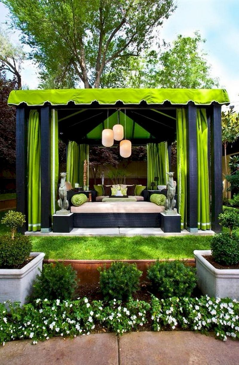 55 Front Yard Design Ideas With Gazebo That Make You Relax Modern Gazebo Outdoor Living Rooms Outdoor Living