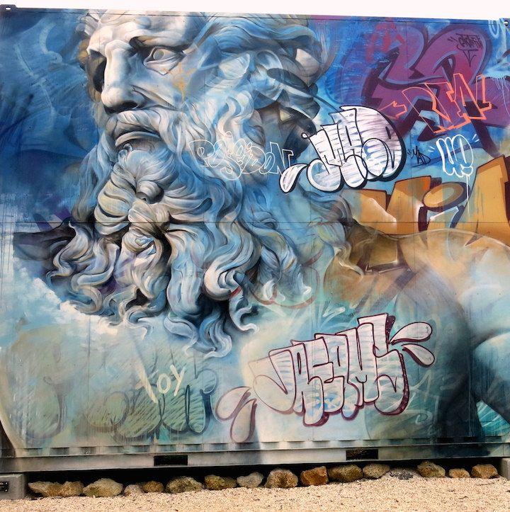 PICHI AVO For Wynwood Walls Miami USA World Of - Beautiful giant murals greek gods pichi avo