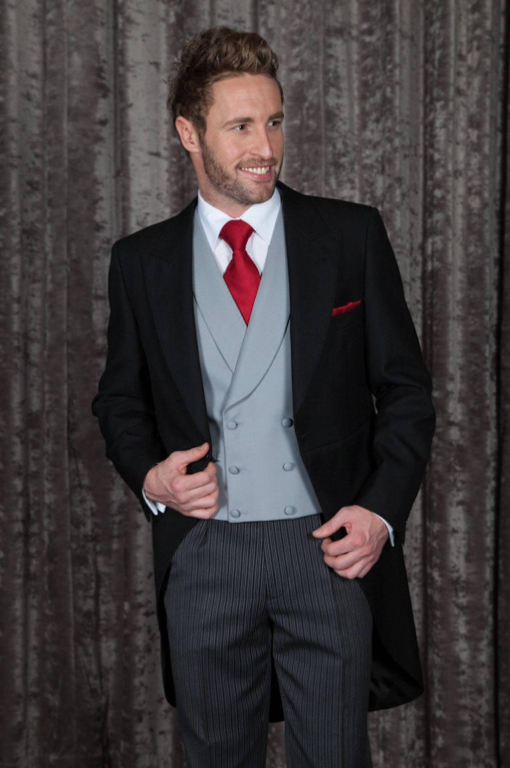 Traditional Morning Tail Coat for the Groom or Ascot at
