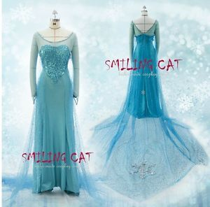 Anime Disney Movies Frozen Snow Queen Elsa Cosplay Costume Anime | eBay. One of the best one I've seen on ebay.  $164+$40 shipping