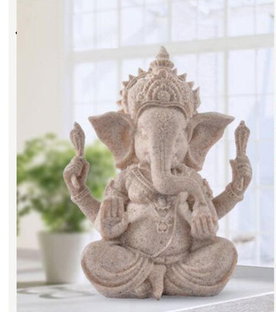 Lord Ganesha Statue / Sculpture - Hand Carved Sandstone - Ceremony Ornaments / Gift / Home Decor(New) #buddhadecor