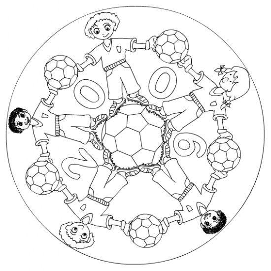 Kleurplaten Voetbal Mandala.Voetbal Netwijs Nl Maakt Je Wereldwijs Mandala Pinterest