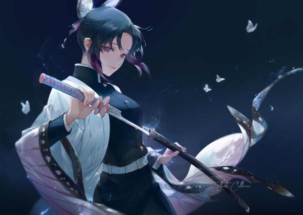 Anime Demon Slayer Kimetsu no Yaiba Shinobu Kochou