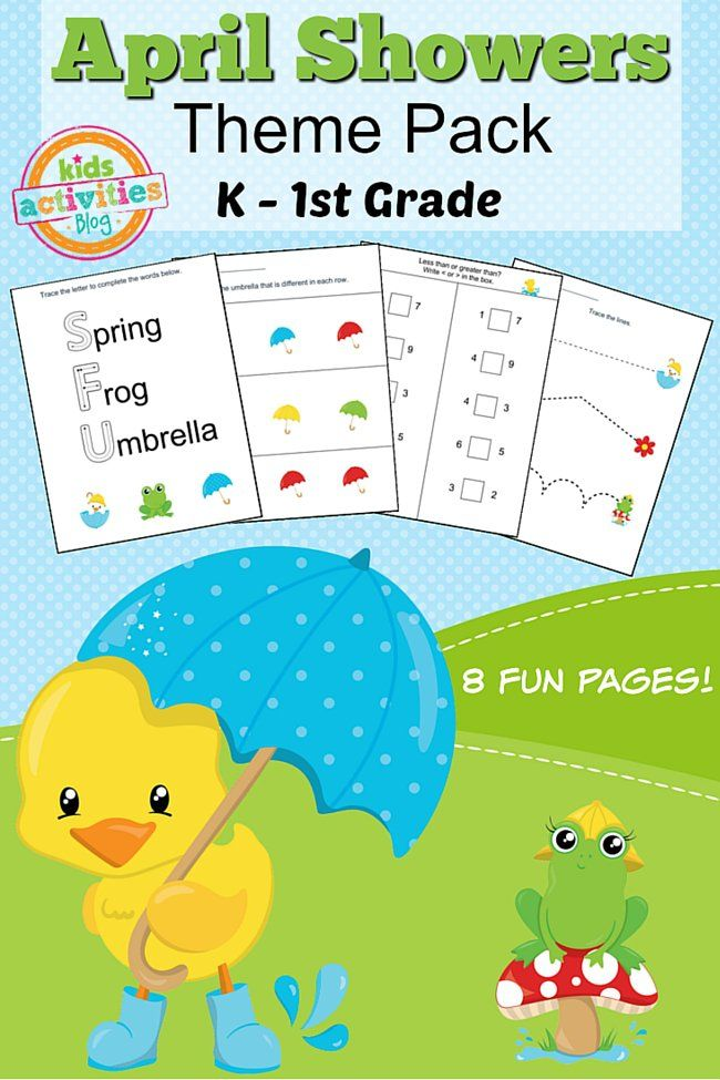 Spring Printable Kindergarten Worksheet Pack | Kindergarten ...