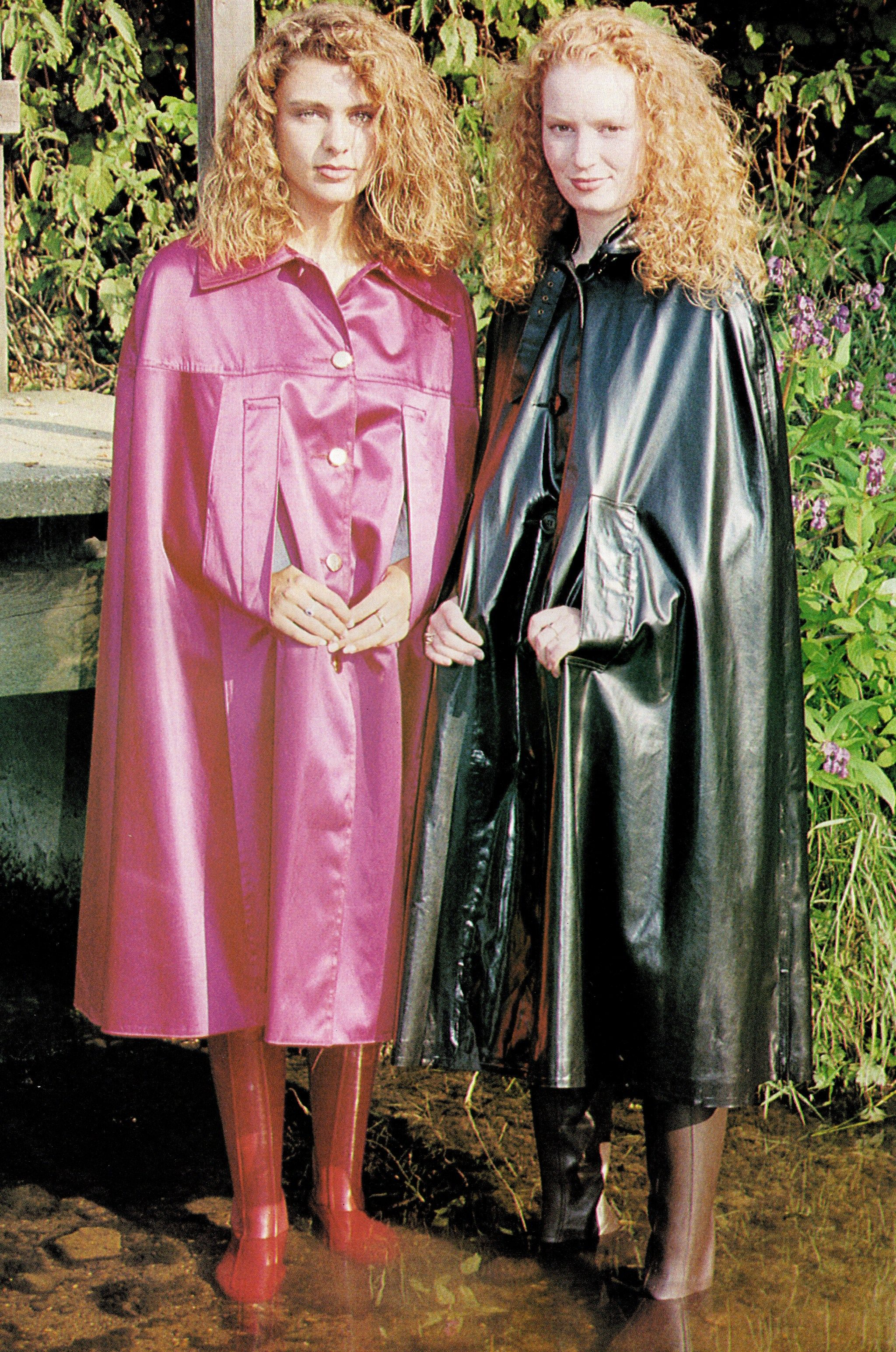Kingfisher Rainwear rubber-lined satin capes | Rubber ...