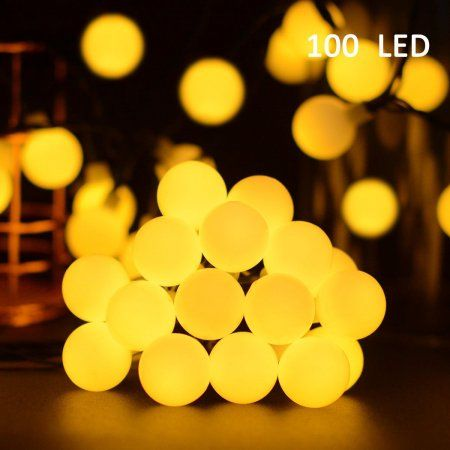 Vmanoo Globe Battery Operated Timer String Lights 100 LED Ball Fairy