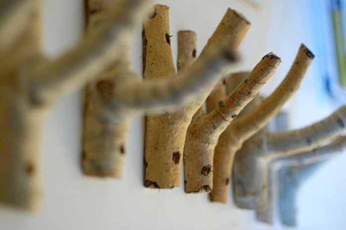 tree branch coat hooks