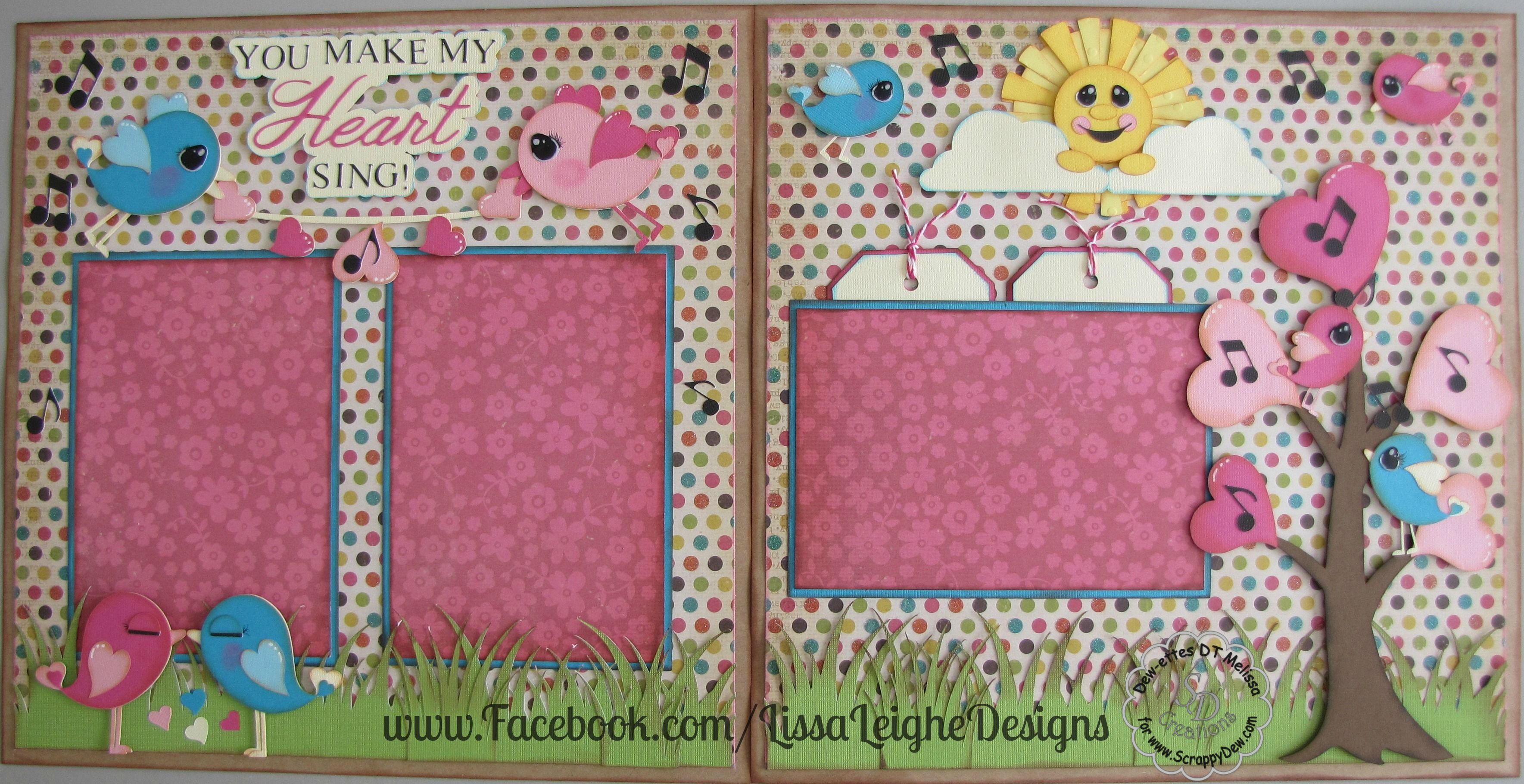 How to make scrapbook in facebook - Facebook Com Lissaleighedesigns Scrappydew Paper Piecings Scrapbooking Spring Layout Valentine S Day Layout