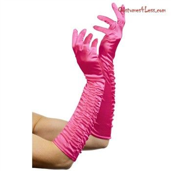 Temptress Long Fuschia Gloves Adult at Costumes4Less.com