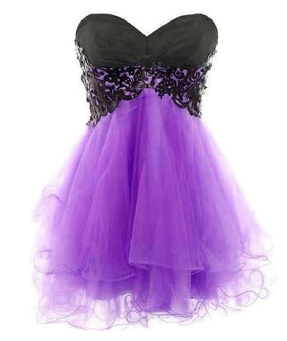 Images of Purple And Black Prom Dresses - Reikian