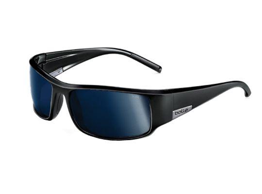 aeafc82e176bc Bolle Sport King Sunglasses Shiny Black Blue w Polarized Blue oleo AR Lens  Size  Polarized Inland Gold Oleo Ar