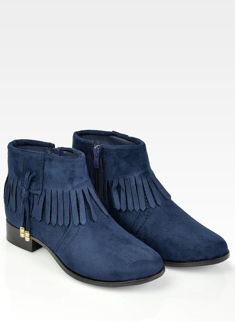 Lekkie Wygodne Granatowe Botki Fredzle 36 41 Ankle Boot Boots Shoes