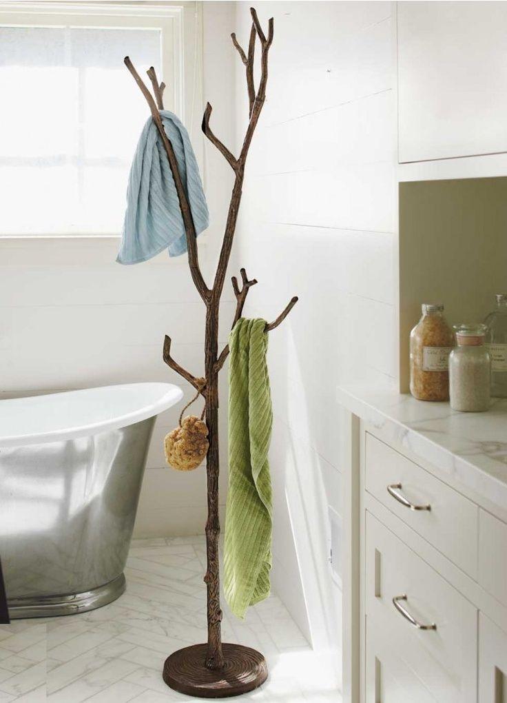 Bronze tree coat rach in bathroom from VivaTerra | home ...