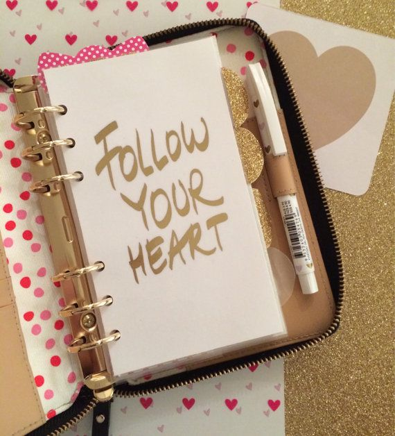 Personal/Medium  and A5/Large Size Follow Your Heart Planner Dashboard Bought 10/25/2014 for me ~