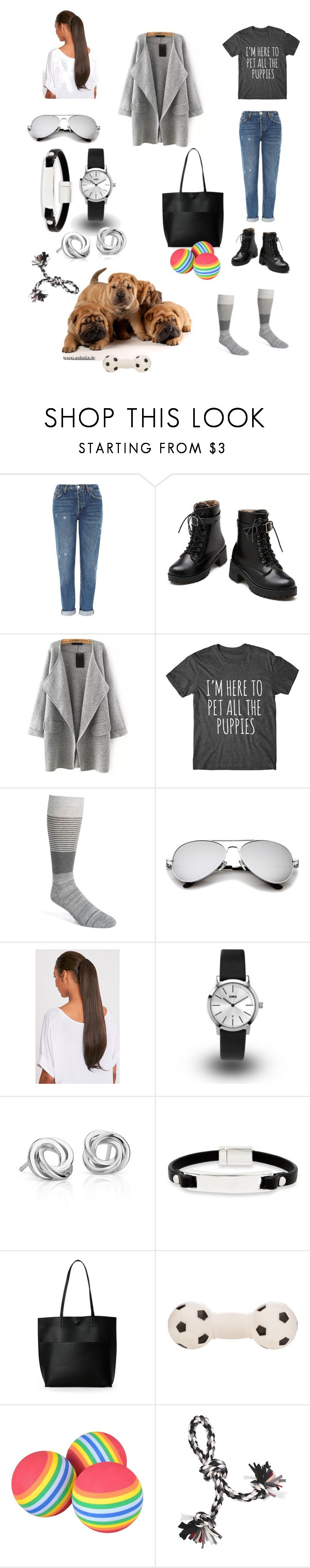 """Here for the Puppies!"" by triciapico on Polyvore featuring Topshop, Calibrate, KENNY, Blue Nile, Kenneth Cole and Street Level"