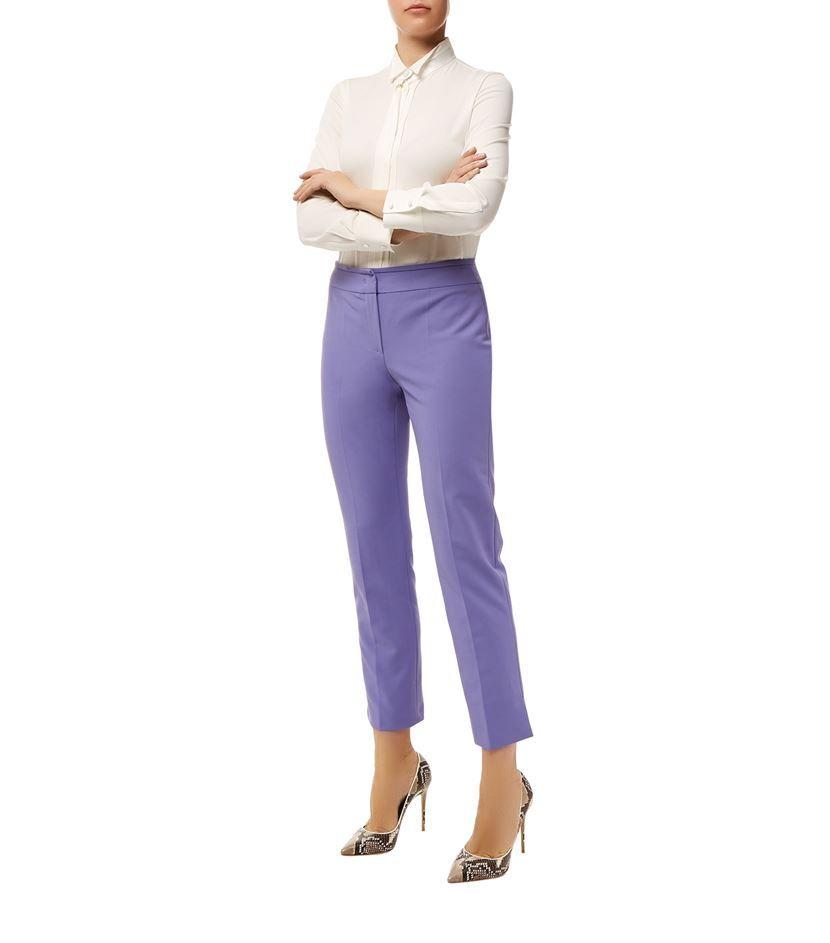 Armani Collezioni Cropped Straight Leg Trousers Lilac|Harrods.com
