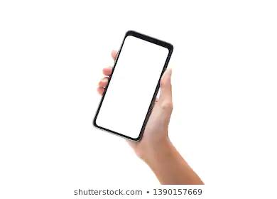 Woman Hand Holding Black Smartphone Blank Stock Photo Edit Now 1412466680