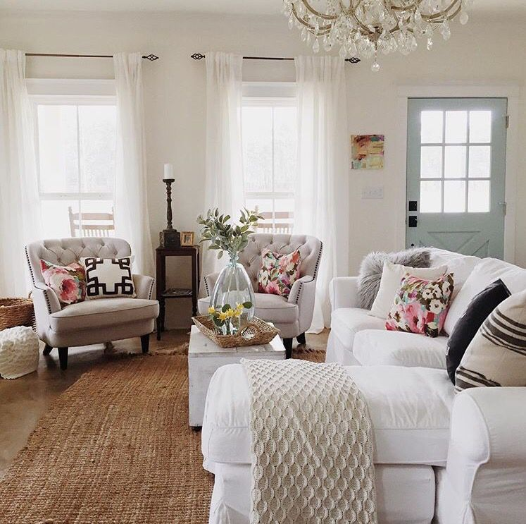 Pop Of Color Livingroom French Country Living Room Country Living Room French Country Decorating Living Room #pop #of #color #in #living #room