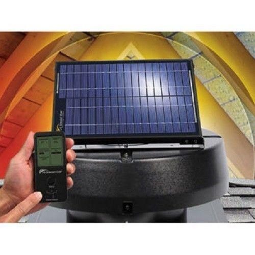 Solar Powered Attic 12w Fan By U S Sunlight Ventilates Up To